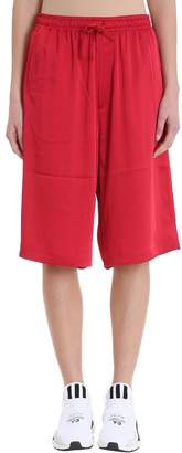 Y-3 Y 3 Satin Red Cotton Shorts