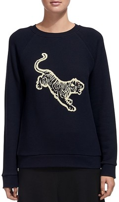 Whistles Embroidered Tiger Sweatshirt $140 thestylecure.com