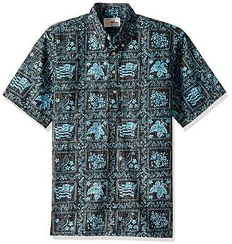 Reyn Spooner Men's Plus Size Spooner Kloth Pullover Classic Fit Button Front Hawaiian Shirt Heritage