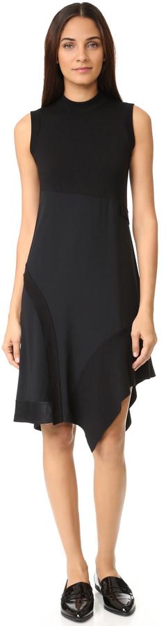 DKNYDKNY Mock Neck Asymmetrical Dress