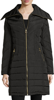 MICHAEL Michael Kors Wide-Collar Puffer Coat, Black $185 thestylecure.com