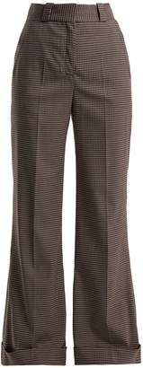 See by Chloe Mini check wide-leg trousers