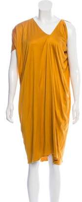 Bottega Veneta V-neck Midi Dress Yellow V-neck Midi Dress