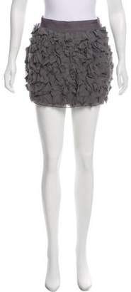Haute Hippie Silk Mini Skirt
