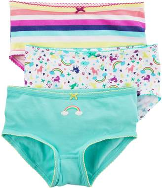 Carter's Girls' 3 Pack Rainbow Striped Panties 2/3