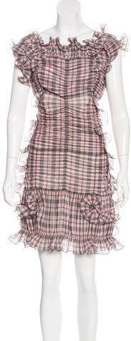 Marc JacobsMarc Jacobs Ruffle Plaid Dress