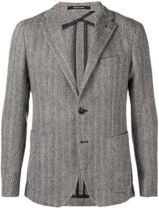 Tagliatore herringbone tweed jacket