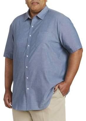 Canyon Ridge Men's Big And Tall Short Sleeve Chambray Shirt, Up To 7Xl