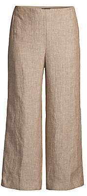 Theory Women's Striped Linen Cropped Pants