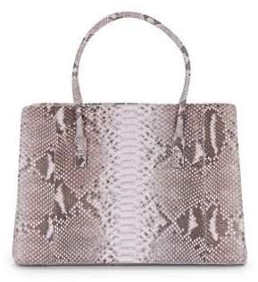 Nancy Gonzalez Python Leather Tote