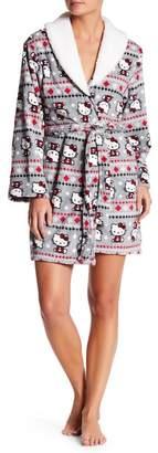 Hello Kitty Faux Shearling Collar Robe