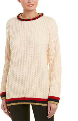 Gucci Cable-Knit Wool & Cashmere-Blend Sweater
