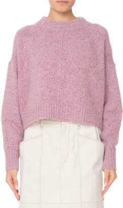Isabel Marant Crewneck Long-Sleeve Cashmere Sweater