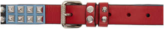 Prada Tricolor Studded Double Belt