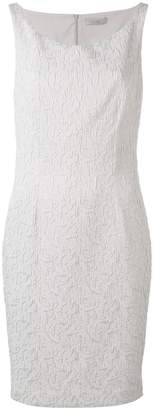 D-Exterior D.Exterior jacquard boat neck dress