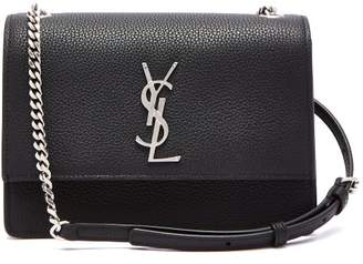 Saint Laurent Sunset Small Leather Shoulder Bag - Womens - Black