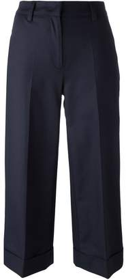 Moncler cropped wide leg trousers