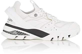 Calvin Klein Women's Rubber-Strap Leather Sneakers - White