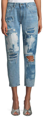 Levi's Crush Taper Tidal Wave Straight-Leg Jeans