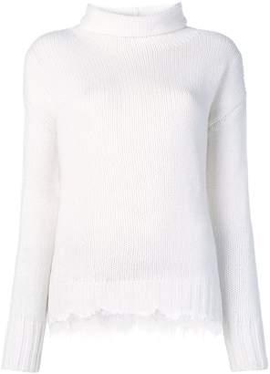 Fabiana Filippi embroidered funnel-neck sweater