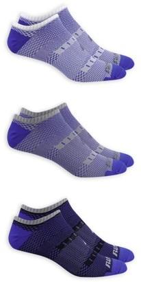 Russell Performance Men's COOLFORCE 360 Mesh Flat Knit Lightweight No Show Socks 3 Pack