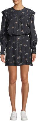 Joie Owena Long-Sleeve Floral Blouson Dress