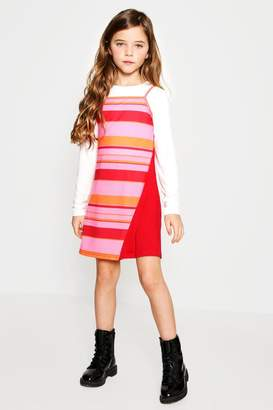 boohoo Girls Two Piece Colour Block Dress