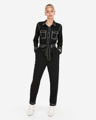 Express Contrast Stitch Jumpsuit