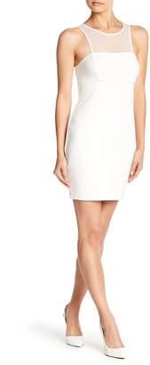 Jump Sleeveless Mesh Bodycon Dress