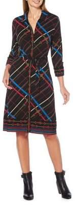 Rafaella Petite Printed Belted Shirtdress