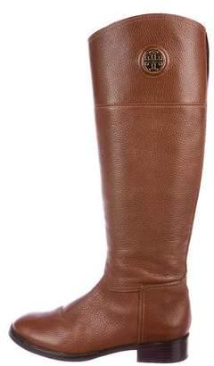 Tory Burch Logo Knee-High Boots