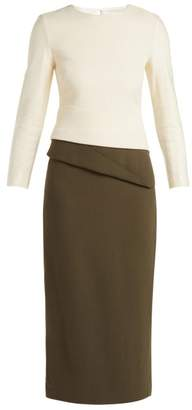 Carl Kapp - Dunaway Wool Crepe Pencil Dress - Womens - Khaki Cream