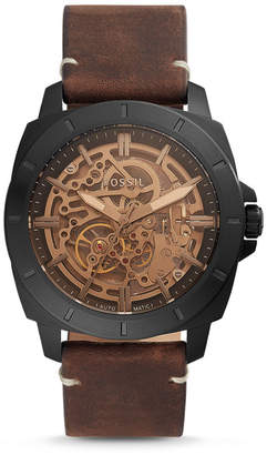 Fossil Privateer Sport Mechanical Brown Leather Watch