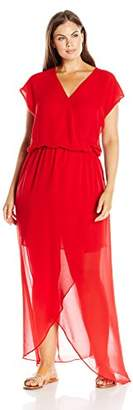 Single Dress Women's Plus Size Flutter Sleeve Maxi Dress