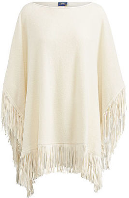 Polo Ralph Lauren Fringe Wool-Blend Poncho $398 thestylecure.com