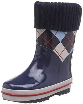 Playshoes GmbH Rubber Checkered Lined, Unisex Kids' Rain Boots