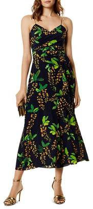 Karen Millen Botanical Wide-Leg Silk Jumpsuit