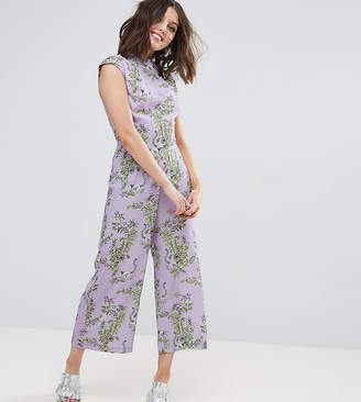 Asos Jumpsuit with High Neck and Wide Leg in Print