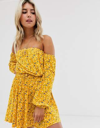 Bardot Asos Design ASOS DESIGN mini sundress in ditsy print