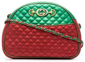 bc6388b55d29 Gucci red and green Trapuntata quilted metallic leather cross body bag
