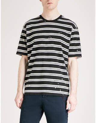 The Kooples Striped cotton T-shirt
