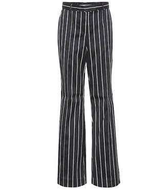Zimmermann Striped cotton-blend trousers
