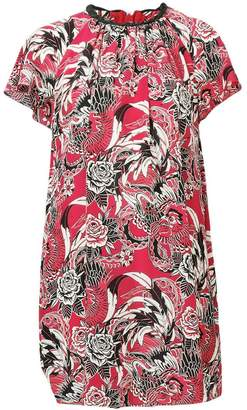 RED Valentino floral print shift dress