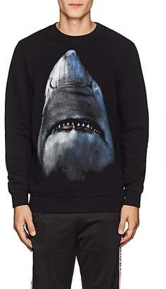 Givenchy Men's Shark-Print Cotton Sweatshirt - Black