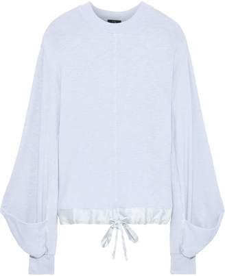 Clu Satin-trimmed Slub French-terry Sweatshirt