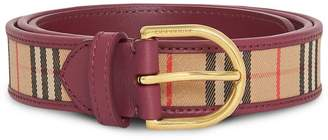 Burberry D-ring 1983 Check belt