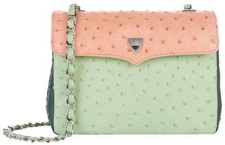 At Harrods Lana Marks Medium Ostrich Leather Chain Bag