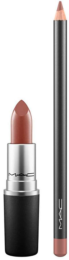 Mac Lip Duo Lipstick and Lip Pencil Set Persistence & Spice