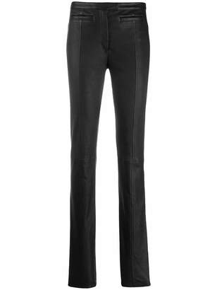 Proenza Schouler Skinny Leather Ankle Zip Pants