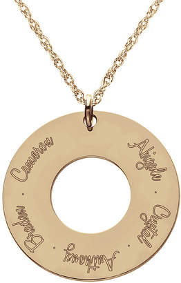 JCPenney FINE JEWELRY Personalized 14K Rose Gold Over Silver Family Pendant Necklace